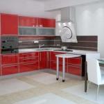Кухонные фасады с алюминиевым обрамлением