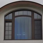 Комбинированные окна (дерево-алюминий)