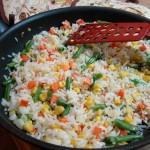 Рис с овощами по-гавайски