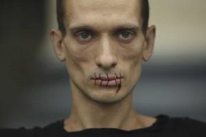 Работы Петра Павленского.